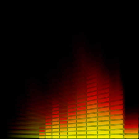Digital equalizer in glowing motion Stock Photo - 4589801