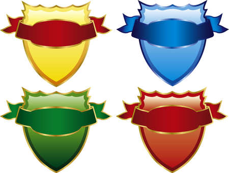 Vector illustration of four medieval shields is what you are looking for Vector