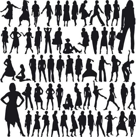 elegance silhouette: Lots of glamor female models no 07