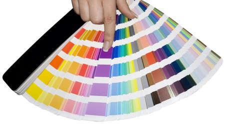 prepress: Preimpresi�n en color escala aisladas