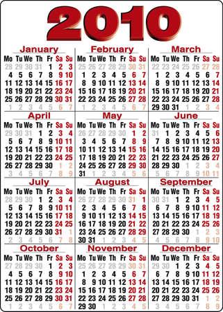 Accurate Calendar for 2010