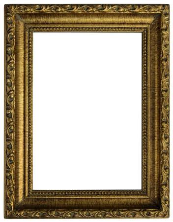 Alte goldenen Holzrahmen isoliert Standard-Bild