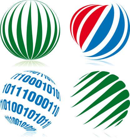 Spheroid designed balls Vector