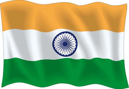 indian flag: Waving flag of India Illustration