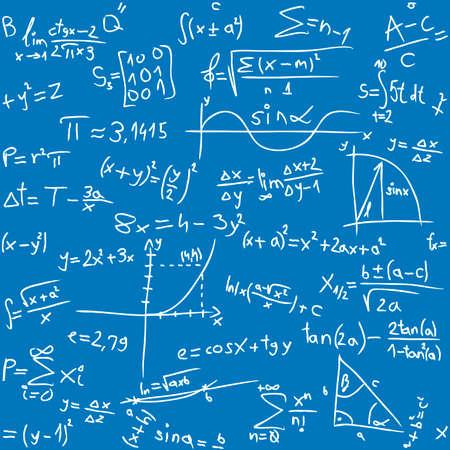 Repeatable seamless math pattern Illustration