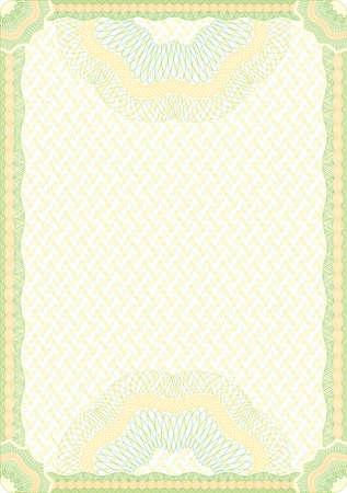 Secured Guilloche Diplom Hintergrund, werden die Elemente in Schichten für die einfache Bearbeitung