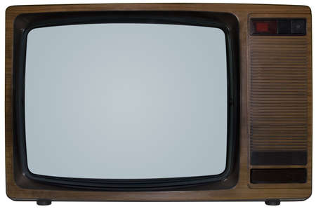 Alte TV isoliert innerhalb und außerhalb