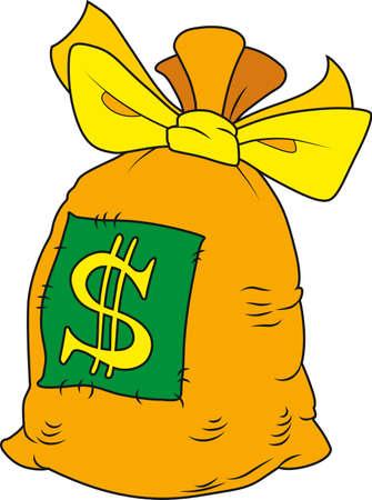 Vector illustration of cartoon stile money bag Stock Vector - 6025075