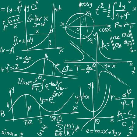Abbildung der nahtlose Mathematik und Geometrie-Hintergrund Illustration