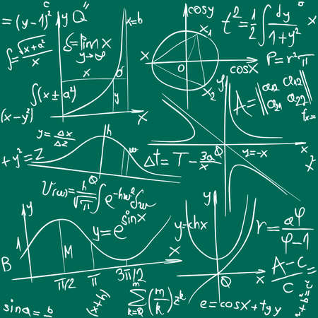 chaotic: illustration of seamless math and geometry background