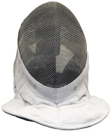 Fencing mask isolated  photo