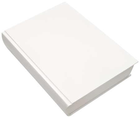portadas de libros: Modelo blanco vac�o de la cubierta del libro duro aislado
