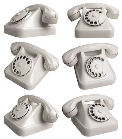 hotlink: Vintage Telephone in six different angles