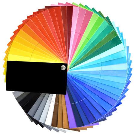 Colorfull spectrum palette sample  photo