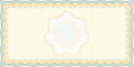 Guilloch Kontrollkästchen Hintergrund gesichert, sind Elemente in Ebenen für die einfache Bearbeitung  Illustration