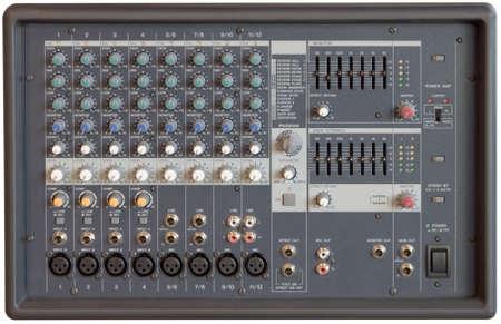 Multichannel sound mixer console board   photo