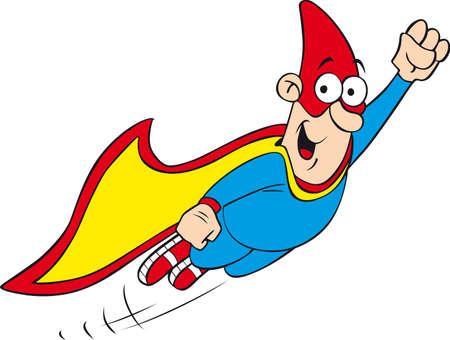 cartoon geek hero character Stock Vector - 8360404