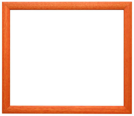 simple frame: Simple orange wooden frame Stock Photo