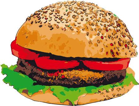 sesame seeds: burger