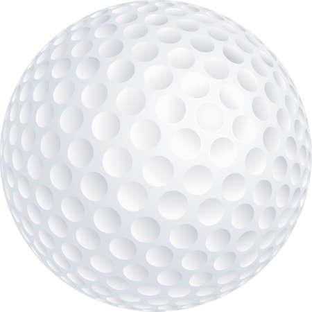 pelota de golf: pelota de golf Vectores