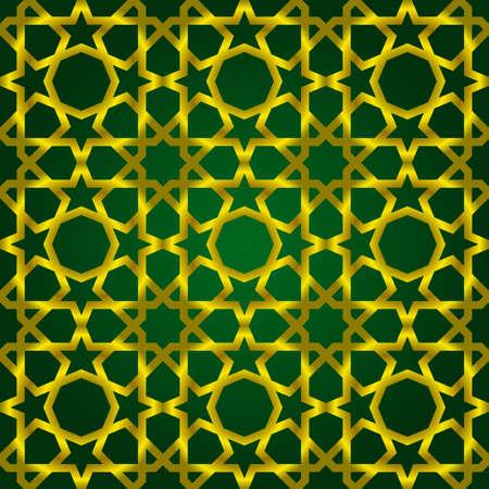 Vektor-Illustration des Komplexes islamischen nahtlose Muster Illustration