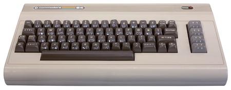 Zagreb, Kroatien - Januar 23. 2011: Ausstellung, Children of Technology - Elektronische Rechner. Frontansicht des Commodore 64 Computer im Jahr 1982 veröffentlicht.