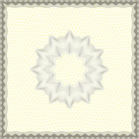 Empty Guilloche Certificate Template Illustration