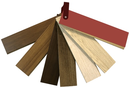 Wooden Parquet Color Swatch isolated with Clipping Path Stock Photo - 21455198