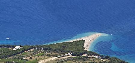 brac: Golden Cape on Brac island in Croatia Stock Photo