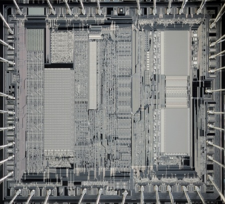 low scale magnification: Low Scale Magnification of Computer Microchip