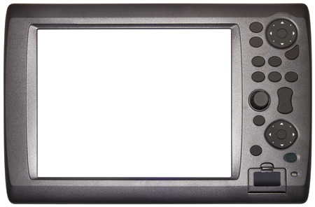 cut out device: Loran Navigation Tablet Device Isolated with Clipping Path