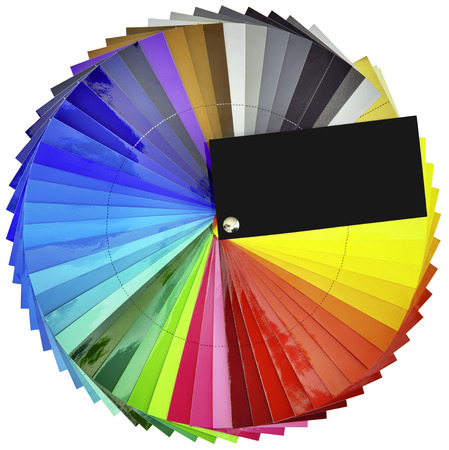 Color Swatch Isolated with Clipping Paths Stock Photo - 22980519