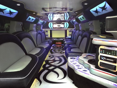 Inside Stretched Limousine for Celebration