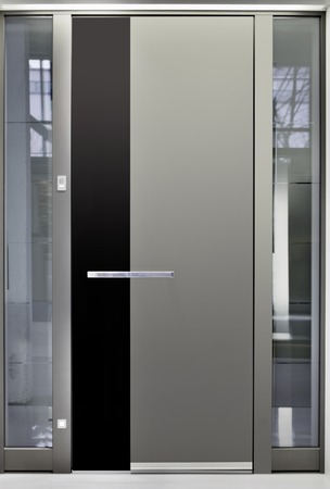 Massive Metallic Entry Front Door