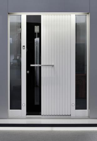security door: Front of Massive Aluminum Door