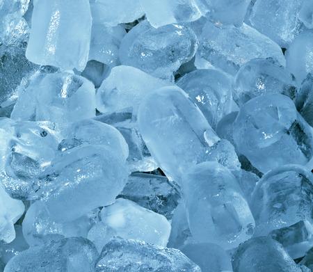 frigid: Ice Cubes Frosty Cyan Cold Background Stock Photo