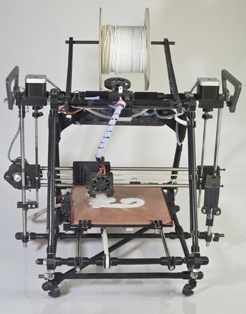 prototype: Open Source 3d Printer Prototype Stock Photo