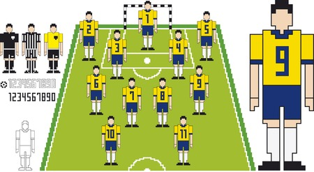 illustration of Brazil Team Soccer tactical Kit illustration