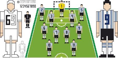 Illustration of Tactical Kit of Argentine Soccer Team illustration