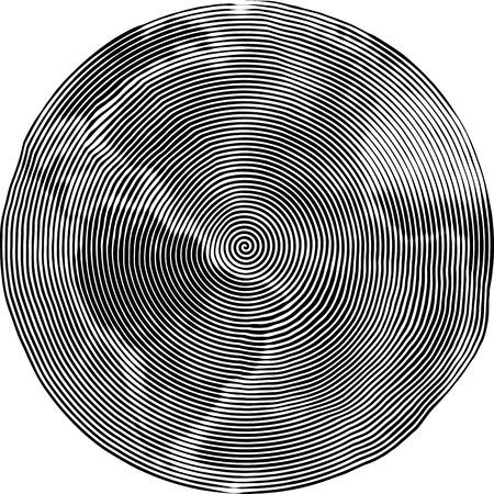 distorted: Illustration of Earth Uzumaki stile Stock Photo