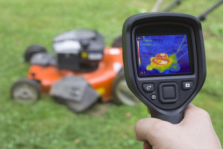 heat radiation: Thermal Image Failure Detection of Lawn Mower