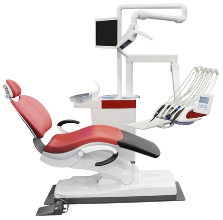 cut out device: Dental Chair Isolated with Clipping Path