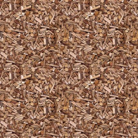 mulch: Wooden Chips Mulch Seamless Pattern Stock Photo