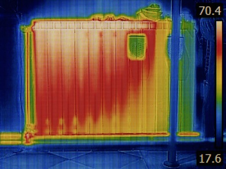 Air Gap in Radiator Heater Thermal Image photo