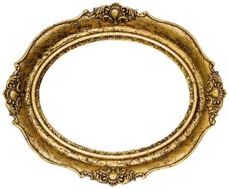 Goldene Oval Bilderrahmen Cutout