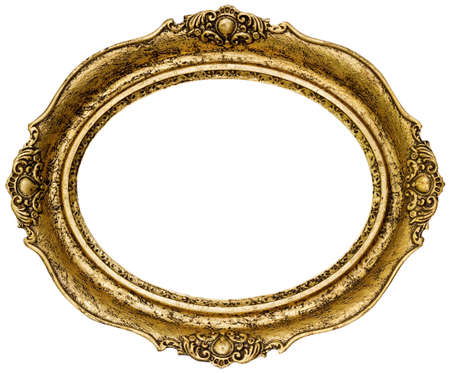 ovalo: Oro Oval Frame Picture Cutout