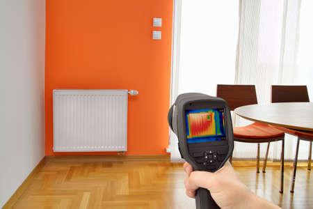 d�tection: D�tection de perte de chaleur dans le centre de radiateur de chauffage