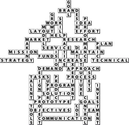 vocabulary: From Goal to Product Crossword Puzzle Illustration