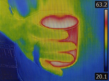 heat radiation: Thermal Image of Hot Teacup Stock Photo