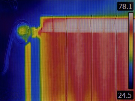 Radiator Heater Infrared Thermal Image photo